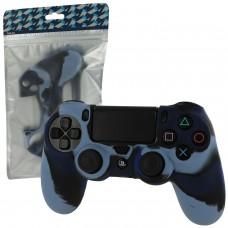 Силиконовый чехол для джойстика Dualshock 4 (Camo Dark Blue), 218893, Аксессуары