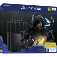 PlayStation 4 Pro Bundle (1 Tb, черный, Death Stranding), 222154, Консоли