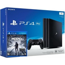 PlayStation 4 Pro Bundle (1 Tb, черный, Metro Exodus), 221719, Консоли