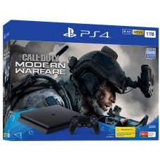 PlayStation 4 SLIM Bundle (1 Tb, черный, Call of Duty Modern Warfare 2019), 221903, Консоли
