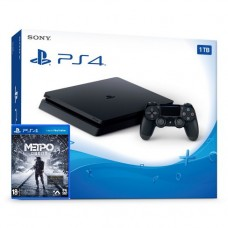 PlayStation 4 SLIM Bundle (1 Tb, черный, Metro Exodus), 221915, Консоли