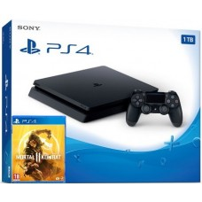 PlayStation 4 SLIM Bundle (1 Tb, черный, Mortal Kombat 11), 221966, Консоли