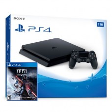 PlayStation 4 SLIM Bundle (1 Tb, черный, Star Wars Jedi Fallen Order), 221650, Консоли