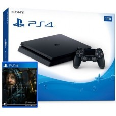 PlayStation 4 SLIM Bundle (1 Tb, Death Stranding), 222284, Консоли