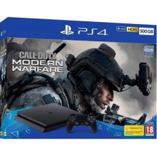 PlayStation 4 SLIM Bundle (500 GB, черный, Call of Duty Modern Warfare 2019), 221823, Консоли