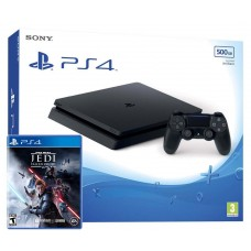 PlayStation 4 SLIM Bundle (500 Gb, черный, Star Wars Jedi Fallen Order), 222117, Консоли