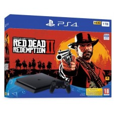PlayStation 4 SLIM Bundle (1 Tb, Red Dead Redemption 2), 235427, Консоли